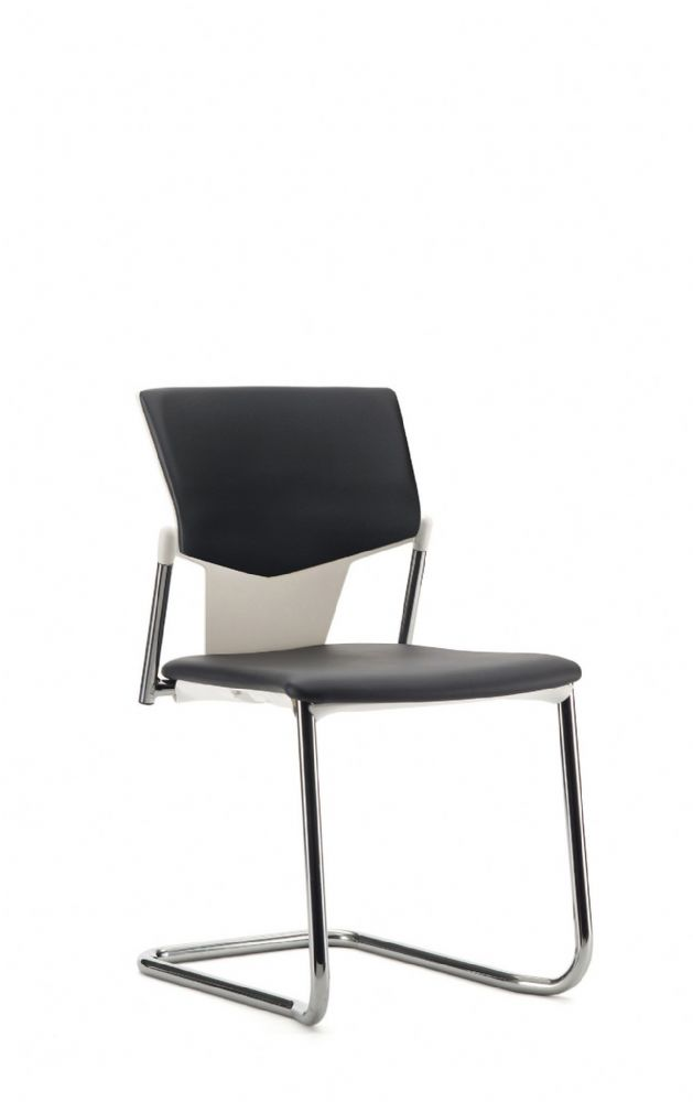 Pledge Ikon Chair With Upholstered Seat And Back With Cantilever Frame